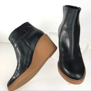 Cole Haan Ankle Boots Black Wedge WATERPROOF
